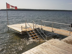 dock with rail