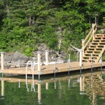 8' x 24' cedar dock with stairs