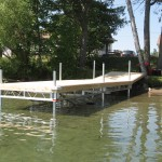 6' x 20' R & J dock on wheels