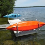 Kayak rack from a different angle